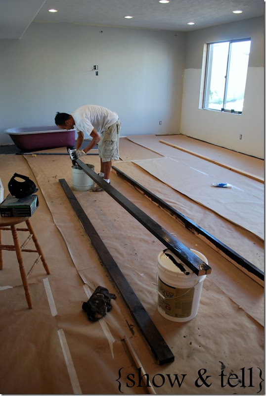 What are styrofoam faux beams used for?